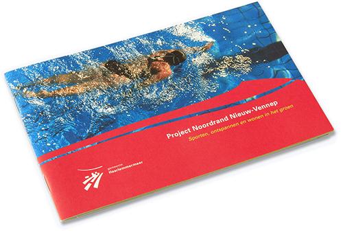 boekje over het project Noordrand Nieuw Vennep; ontwerp voor de gemeente Haarlemmermeer; omslag