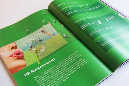 Opleidingsgids, elk half jaar een nieuw grafisch ontwerp. IMK opleidingen uit Alphen aan den Rijn. Tabblad thema HR Management.
